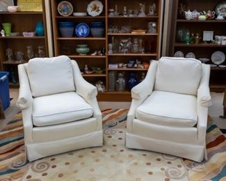 2 living room chairs - another large area rug