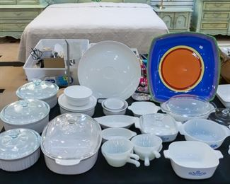 Lots of Corning Ware and casserole dishes
