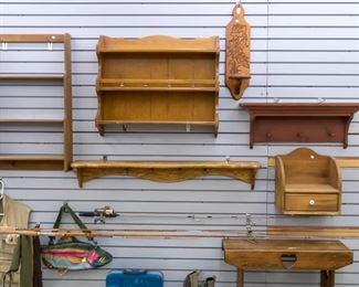 Lots of hanging shelves