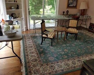 Area Rug, Eastlake Chairs