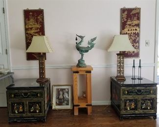 Pair of Asian Side Tables