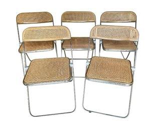 Folding Breuer Cesca Style Chairs, Set of 5