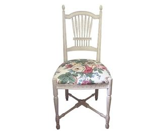 Sheaf Chair with Floral Seat