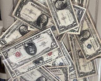 US Paper Money - Currency - Silver Certificates.