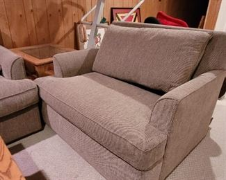 $50, two seat upholstered chair, good condition