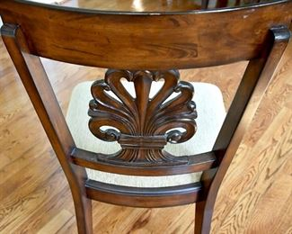Dining Room table with eight (8) chairs, back detail