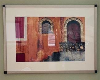 """3.   Robert Barab • architectural offset lithograph • 162/500 •  37""""x 28"""" • $110"""