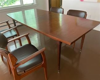 Danish made MCM dining table with leaf. 78 x 40...asking $500.00