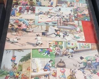 1940's Cat People Postcards Switzerland Germany