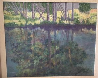 Impressionistic style oil painting signed H. Rowe