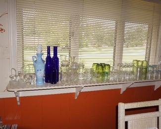decanters, glasses, glasses