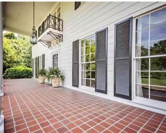 Expansive porch and gardens