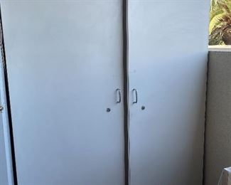 2 Doors White Tall Cabinet