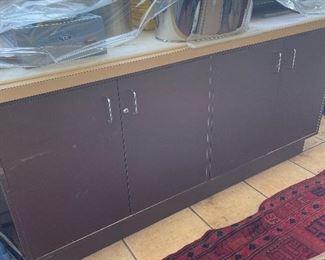Brown & Beige Short Cabinet