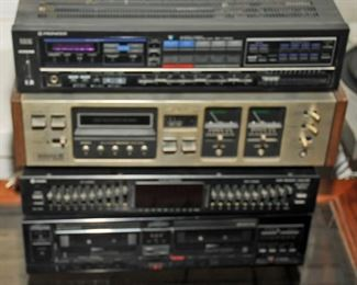 Wollensak 8055 8 Track Tape Player Recorder WITH MANUAL Pioneer SX-V300 Stereo Receiver ~ FG3620820 JAPAN ~ 40W rms WITH MANUALPioneer Model CT-S77W Stereo Double Cassette Tape Deck WITH MANUAL Coustic HEQ-7005A 10 Band Dual Channel Stereo Graphic Equalizer with led meter