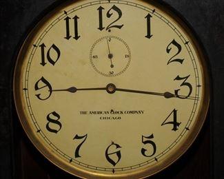 THE AMERICAN CLOCK COMPANY LONG DROP REGULATOR