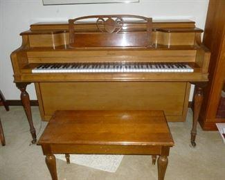 Janssen Upright Piano w/Bench