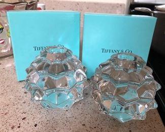 Tiffany & Co crystal candleholders
