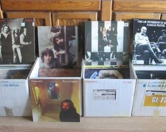 Large Group of Assorted Vinyl Records Including Blondie, Weather Report-I Sing The Body Electric and More