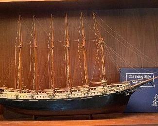 "Model of the 6 Masted Schooner ""Edward B Winslow"""