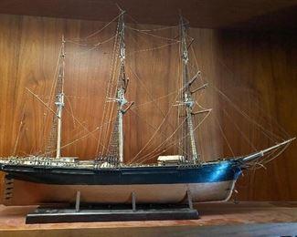 Model of 3 masted schooner