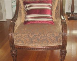 Large, comfortable living room chair.
