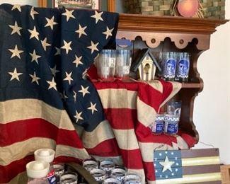 48 Star American Flag, Apollo 11 Glasses and Carafes, JFK Glasses