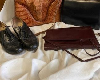 Alligator Handbag, Vintage Handmade Purse from Denmark