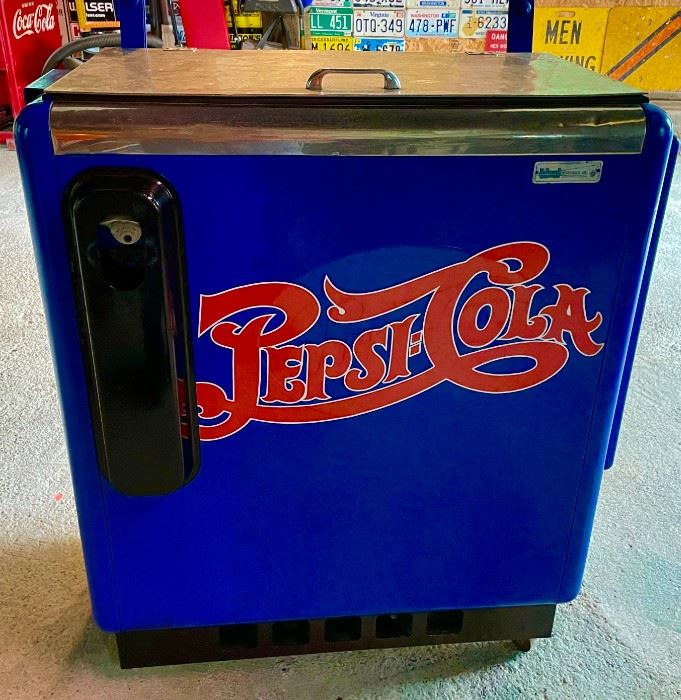 1950's Pepsi  Refrigerated Cooler Works Great