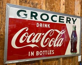 Old Drink Coca Cola in Bottles Grocery Sign