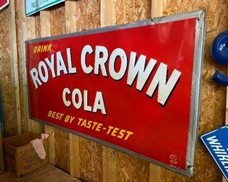 Old Drink Royal Crown Cola Sign
