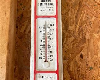 Piedmont Funeral Home Thermometer (Lexington, N.C.)