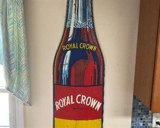 Original Embossed Royal Crown Cola Bottle Sign