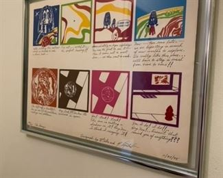 """Signed Serigraph 22"""" w x 17"""" h, date 11/27/75              $200"""