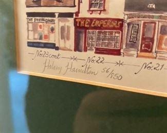 "BUY NOW!!!  Hillary Hamilton, ""Broad Street Oxford""  signed,  15.5"" W x 12"" H    $200"