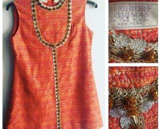 Vintage Cleopatra Bromaud for bergdorf goodman mini dress/tunic