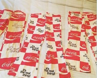 3 pairs of coca cola summer square beach pants - 2 well loved and one like new