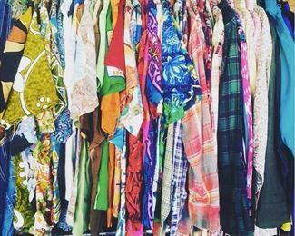 Lots of mens button ups all styles - hawaiian, bowling, 50s, 60s, 70s, pendelton & more