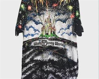 All over print glow in the dark disney/WDW fireworks t shirt