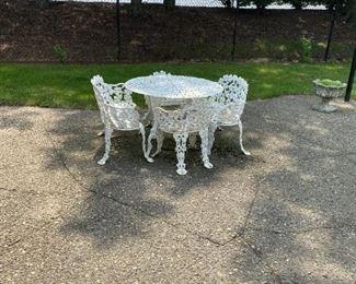 wrought iron bistro patio set