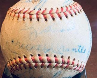 SCARCE 1964 SIGEND NEW YORK YANKEES TEAM BALL