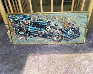 Ron Burton Original Oil Painting  #25 Danny Ongias Interscope Racing