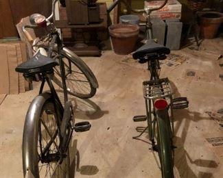Vintage bikes, Schwinn Corvette 2 , Huffy bike