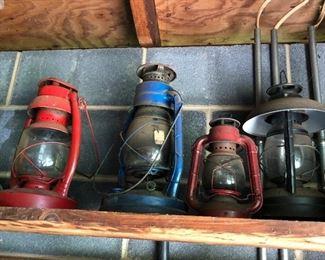 Oil lamps vintage