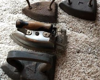 Vintage clothes irons