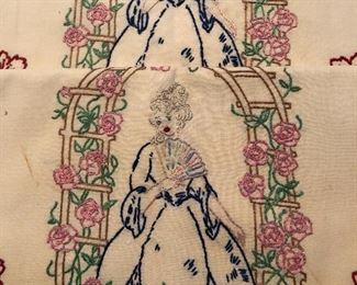 Vintage pillowcases needlework