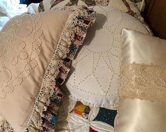 Candlewicking  handmade pillows