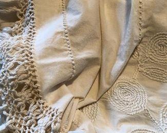 Candlewicking bedspread handmade, beautiful