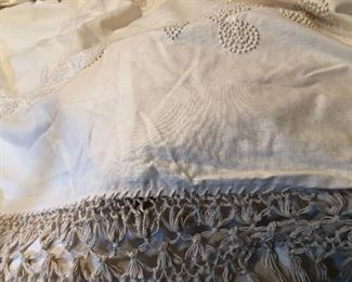 Candlewicking bedspread, and bedshirts