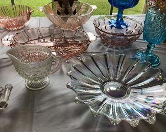 Carnival glass , depression glass